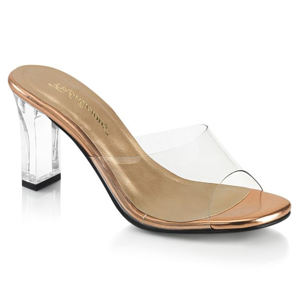 Mules ROMANCE-301 - Clear/Rose Gold