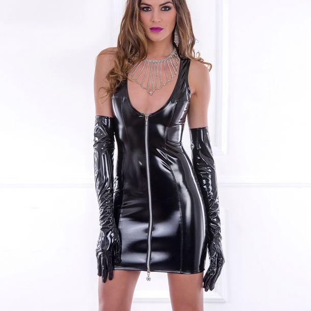 Tanktop Vinyl Mini Dress ROXY - Black