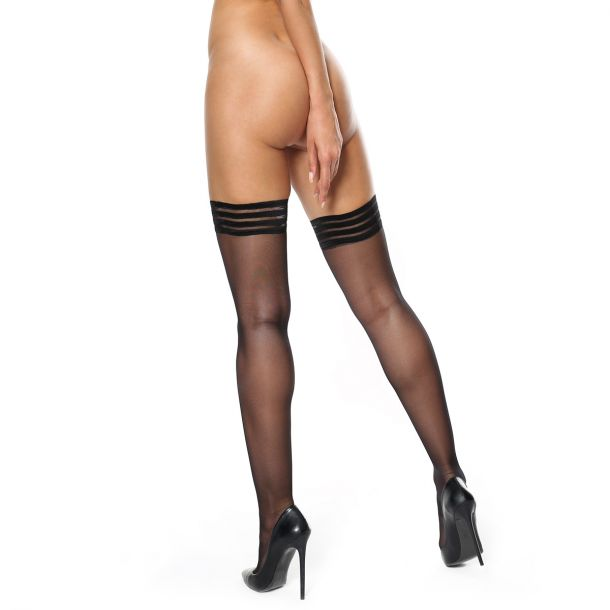 Hold Up Stockings S306 - Black*
