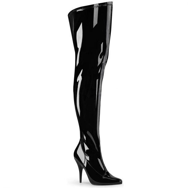 Overknee Boots SEDUCE-3000WC (Wide Shaft) - Patent Black