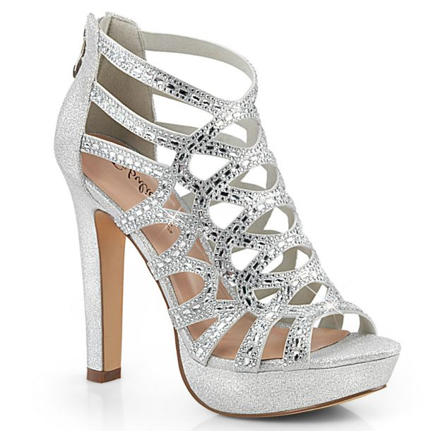 High-Heeled Sandal SELENE-24 - Silver