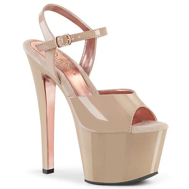 Platform High Heels SKY-309TT - Nude/Rosé Golden