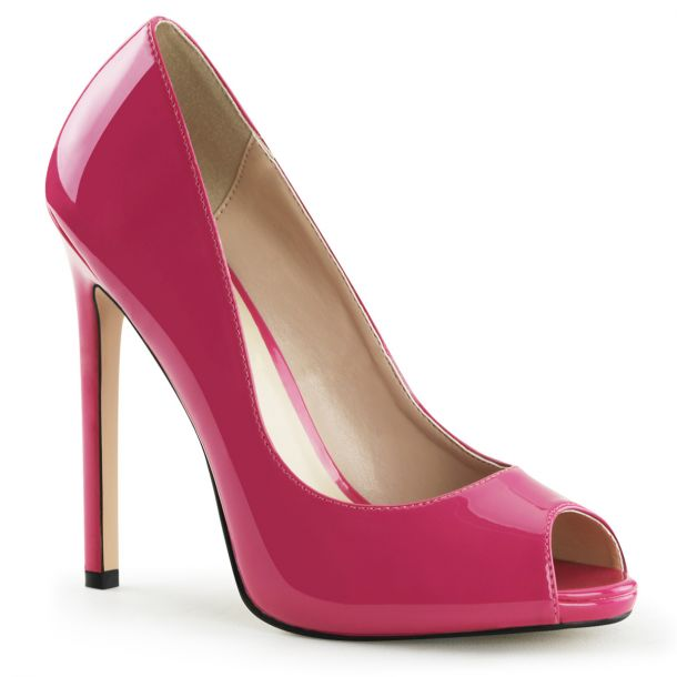 Stiletto Peep Toes SEXY-42 - Patent Hot Pink