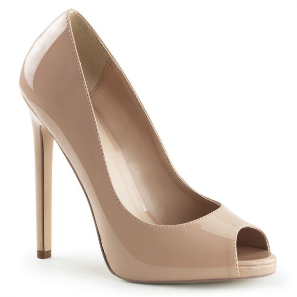 Stiletto Peep Toes SEXY-42 - Patent Nude