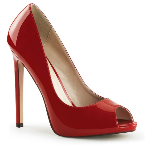 Stiletto Peep Toes SEXY-42 - Patent Red