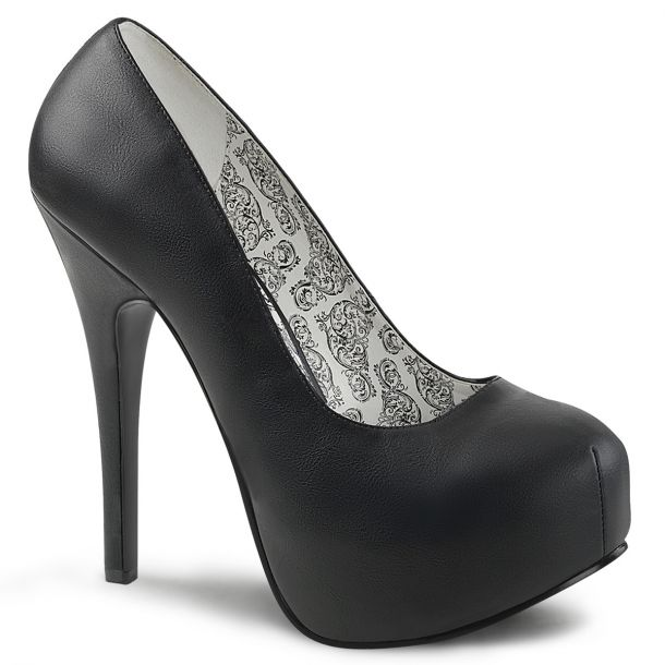 Platform Pumps TEEZE-06W - PU Black (Wide)