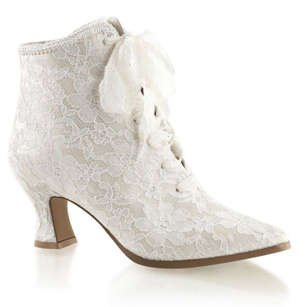 Ankle Boots VICTORIAN-30 - Ivory