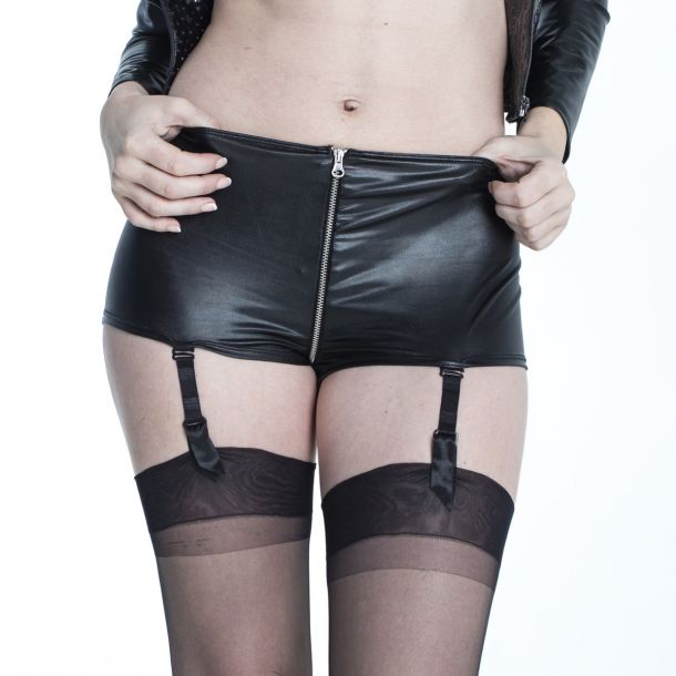 Wetlook Suspender Panty ELISABETH