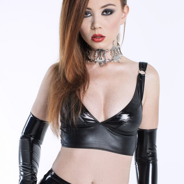 Wetlook Top ELISABETH - Schwarz