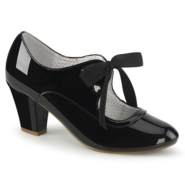Retro Pumps WIGGLE-32 -  Patent Black