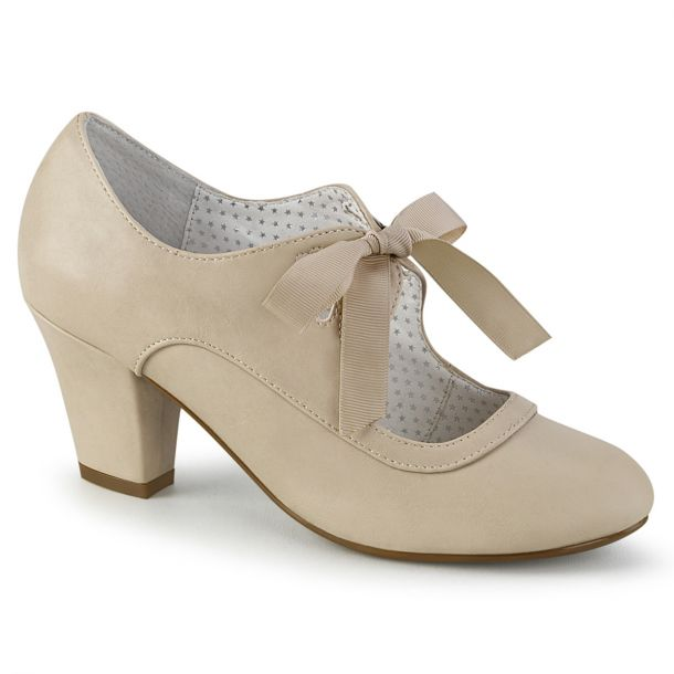 Retro Pumps WIGGLE-32 -  Beige