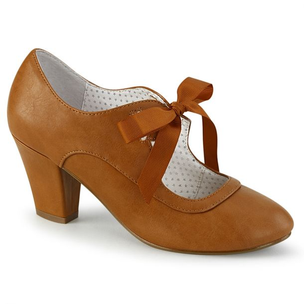 Retro Pumps WIGGLE-32 -  Caramel