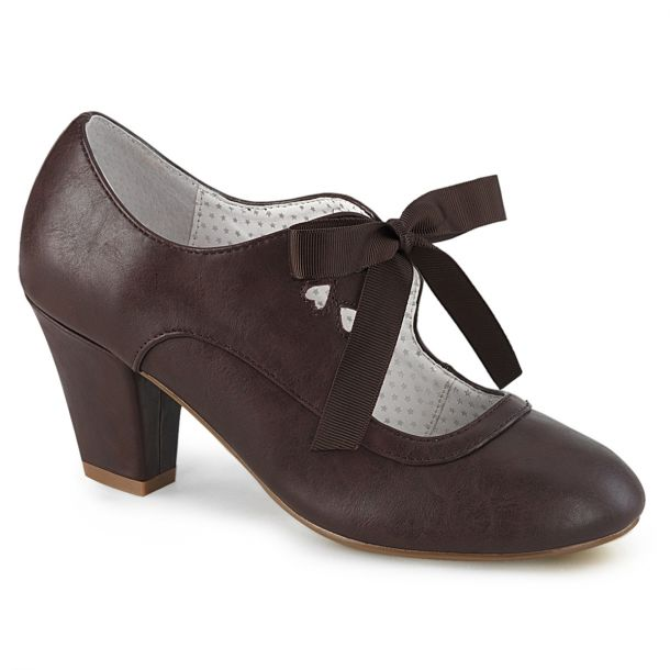 Retro Pumps WIGGLE-32 -  Dark Brown