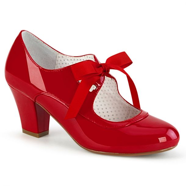 Retro Pumps WIGGLE-32 -  Patent Red