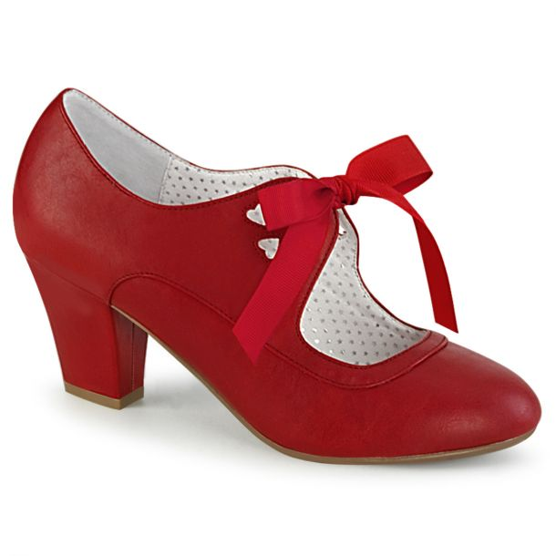 Retro Pumps WIGGLE-32 -  PU Red