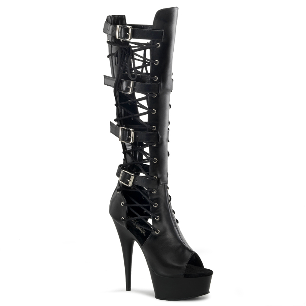 30066a00a73db Platform High Heels DELIGHT-699 - PU Black