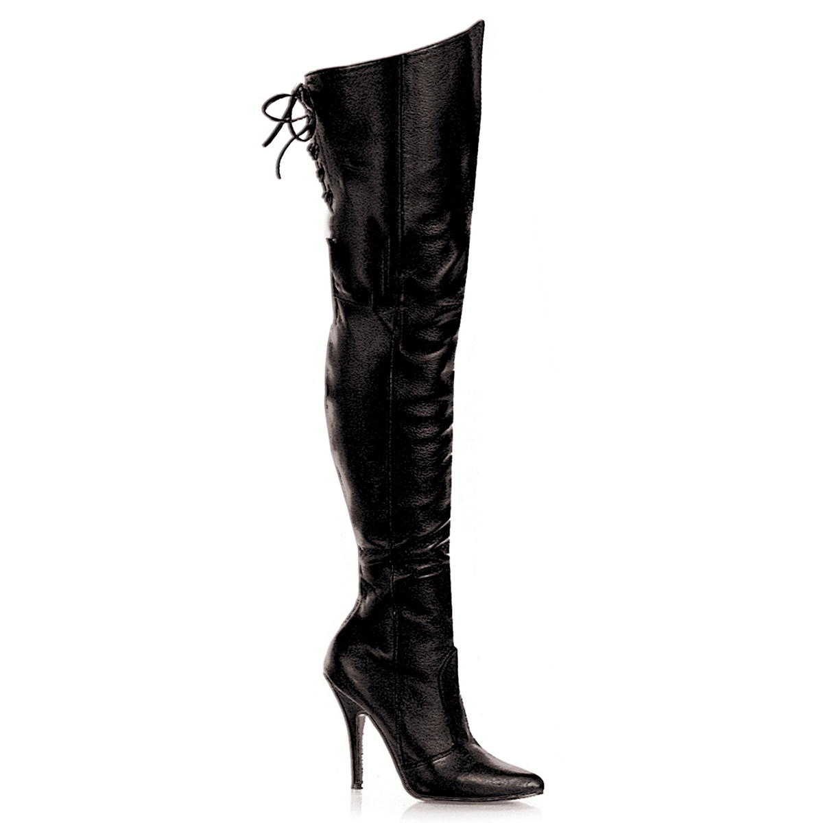 Overknee Boots SEDUCE 3000WC (Wide Shaft) Faux Leather Black