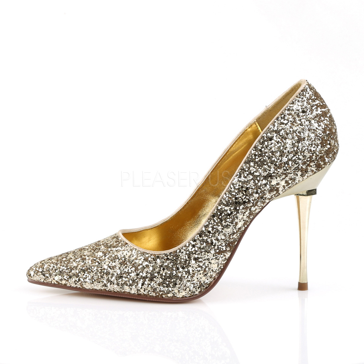 697ca74abf92 ... Stiletto Pumps APPEAL-20G - Glitter Gold ...