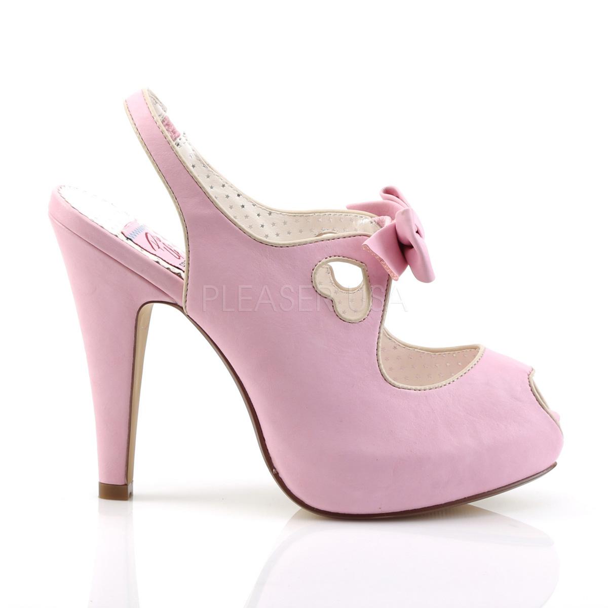 2c0b797a588 Peeptoe Slingbacks BETTIE-03 - Baby Pink
