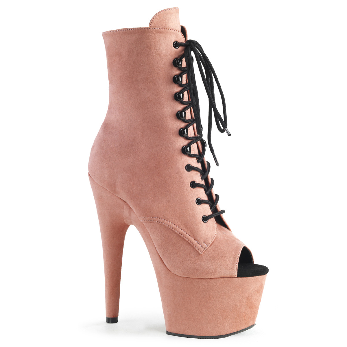 df0b43c384fde Open Toe Platform Ankle Boot ADORE-1021FS - Baby Pink, Pleaser