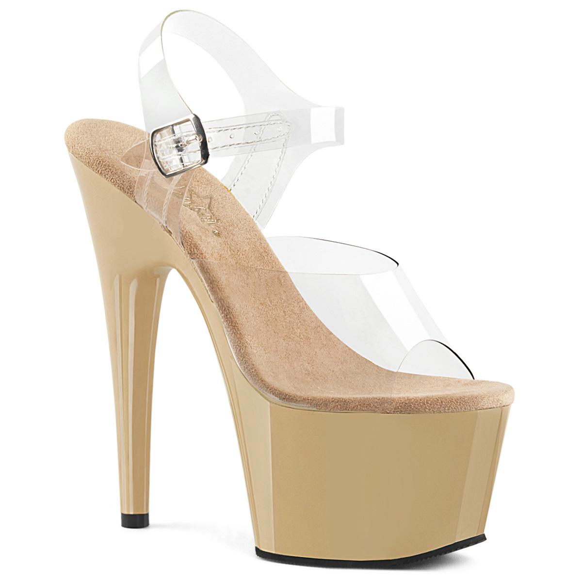 489994cda Platform High Heels ADORE-708 - Cream, Pleaser