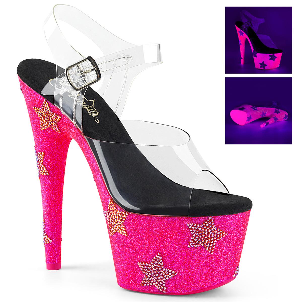 Neon Hot 708star Adore Heels Plateau Pink High ybYf6v7g