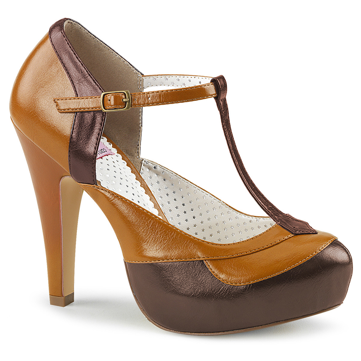 buy popular 54c5e 3e333 Retro Pumps BETTIE-29 - Brown, Pin Up Couture