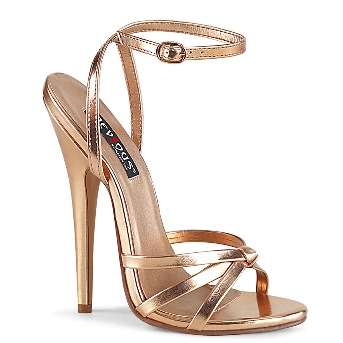108 Gold Metallic Devious High Heel-Sandales do Mina