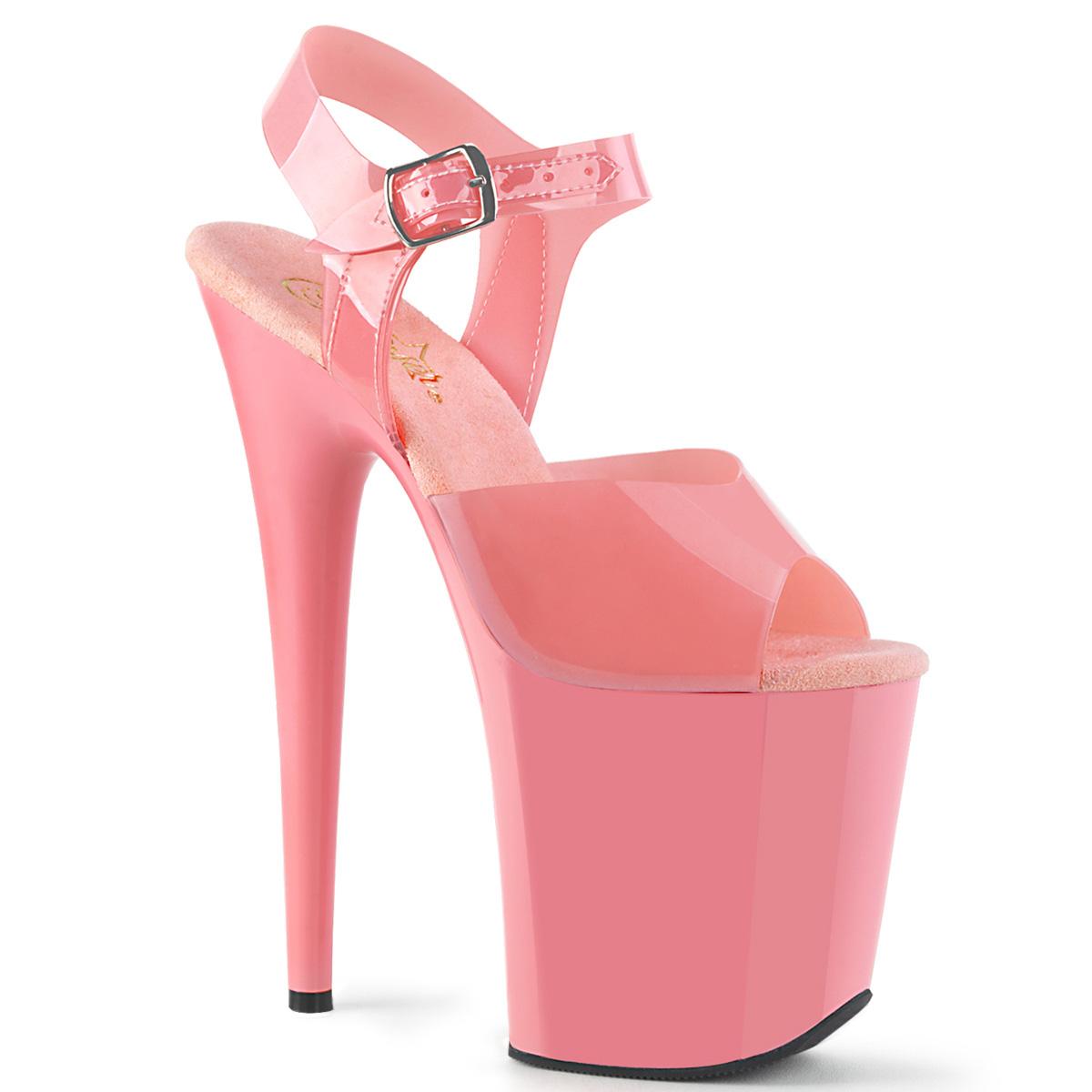 685d6dfbc6d Extreme Platform Heels FLAMINGO-808N - TPU Baby Pink