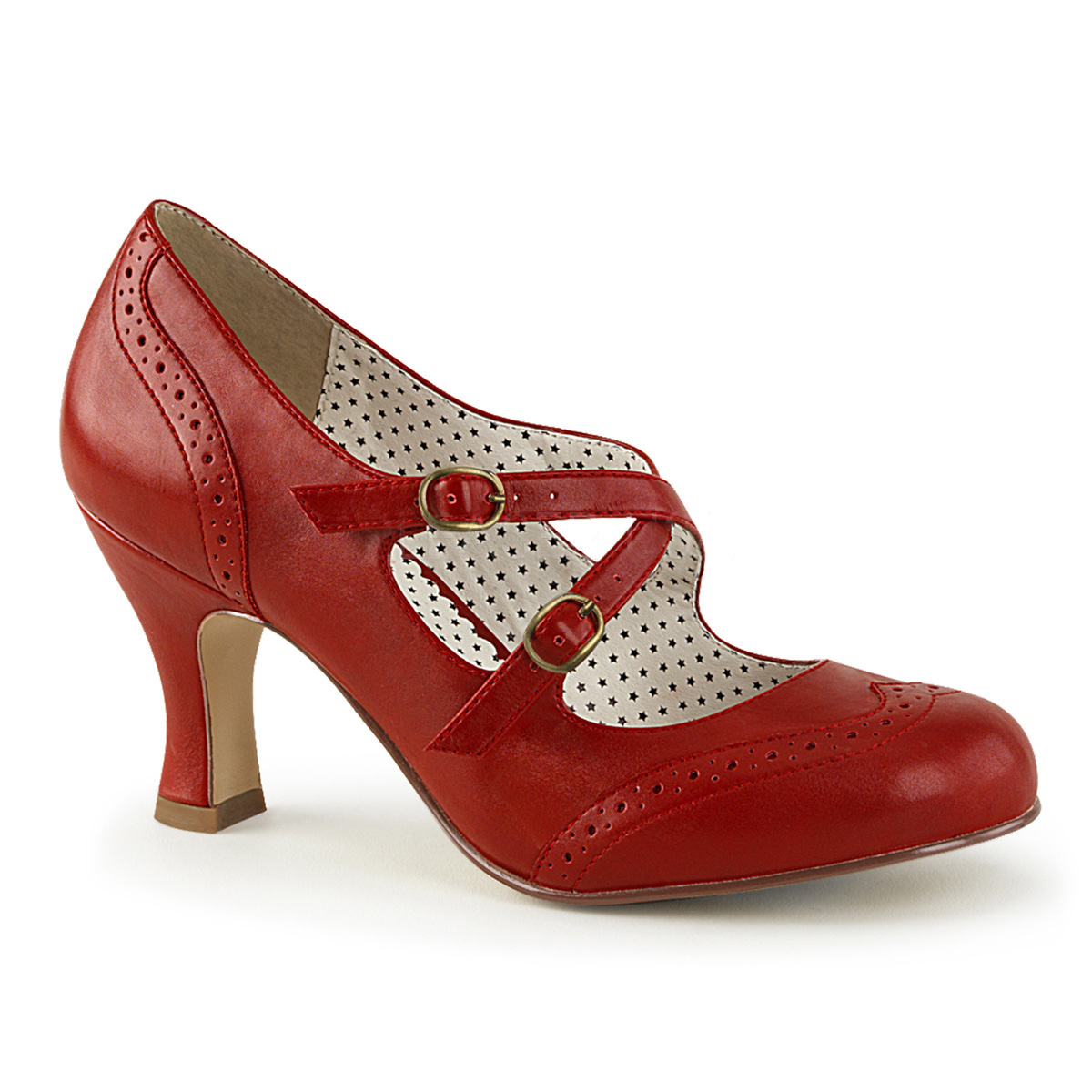 b9a28a9fd8e Kitten Heels FLAPPER-35 - Red