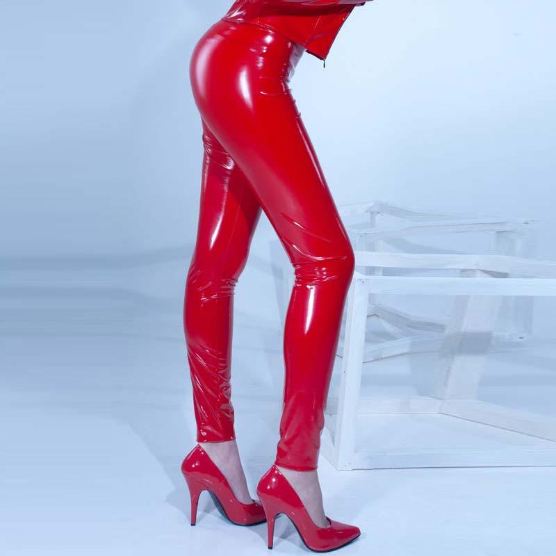 c614199e2406f VERA Vinyl Leggings - Red, Patrice Catanzaro