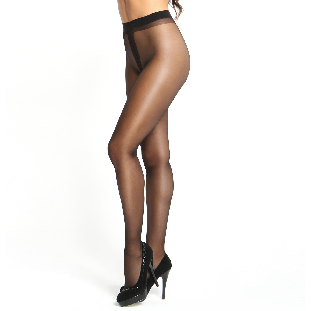 0f32adb837b Crotchless Tights P101 - Black
