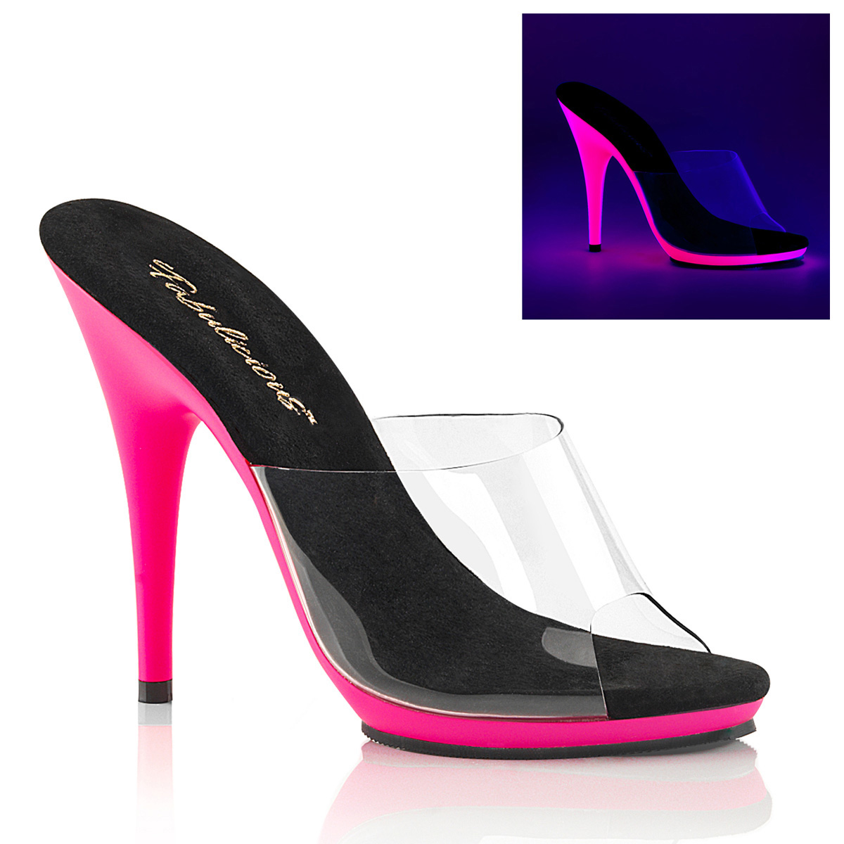 Pantoletten POISE-501UV Pink Neon Pantolette POISE-501UV Pink