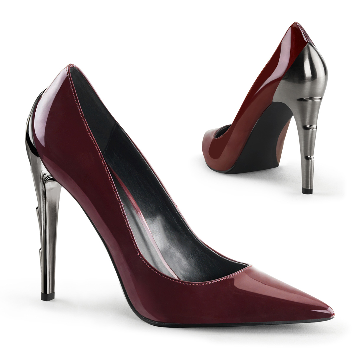 Pumps VOLTAGE-01 - Patent Burgundy