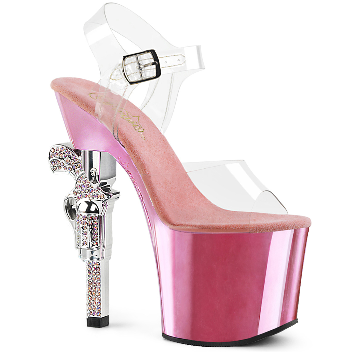 e0039dd9779 Platform High Heels REVOLVER-708 - Baby Pink Chrome