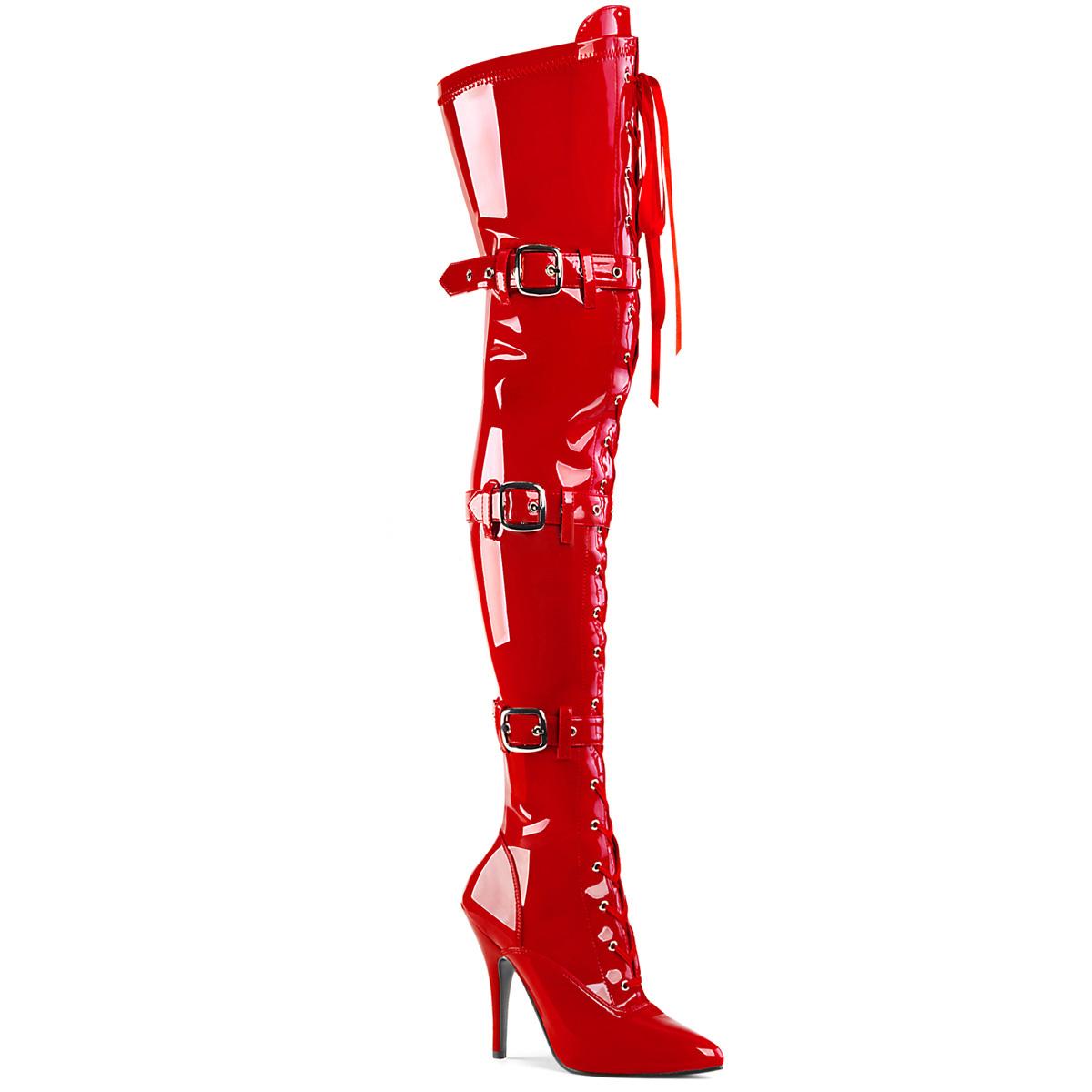 7997f4eff5ab52 Overknee Boot SEDUCE-3028 - Patent Red