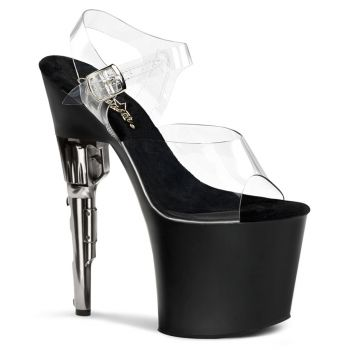 Platform High Heels BONDGIRL-708 - Black