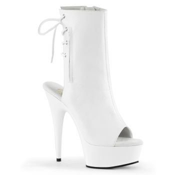 Platform ankle boots DELIGHT-1018 - PU White