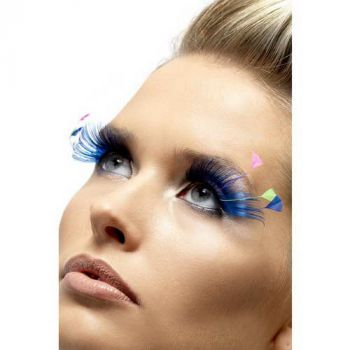 Feather Plume Eyelashes - Blue*