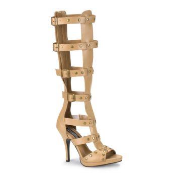 High-Heeled Sandal GLADIATOR-208 - Tan*