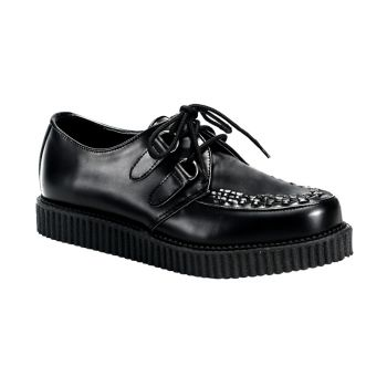 Low Shoes CREEPER-602 - Leather Black