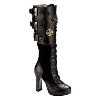 Gothic Boots CRYPTO-302 - Black