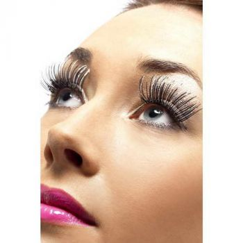 Holographic Eyelashes : Silver/Black*