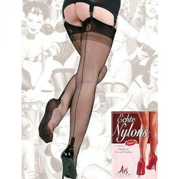Seamed Nylons CUBAN Heel - Black*