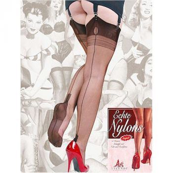Seamed Nylons CUBAN Heel Chocolate*