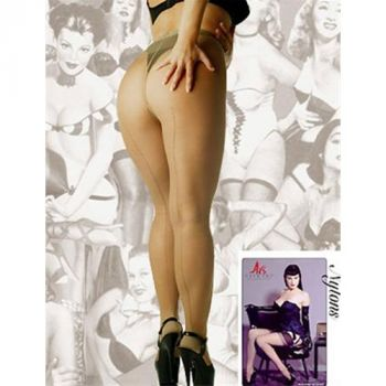 Glamour Tights With Seam Natural*