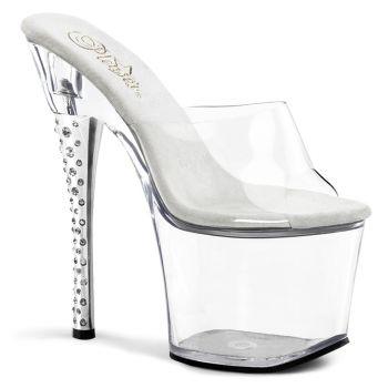 Platform High Heels DIAMOND-701 -  Clear