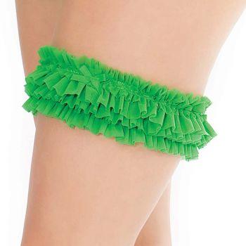 Mesh Leg Garter - Green