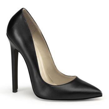 Stiletto High Heels SEXY-20 - PU Black