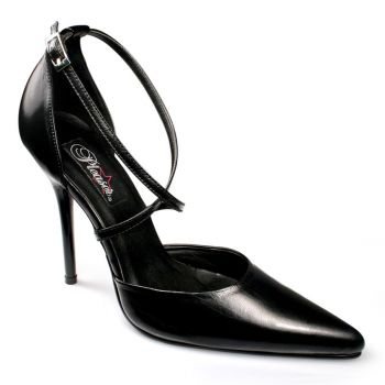 D'Orsay Pumps MILAN-42 - Leather Black